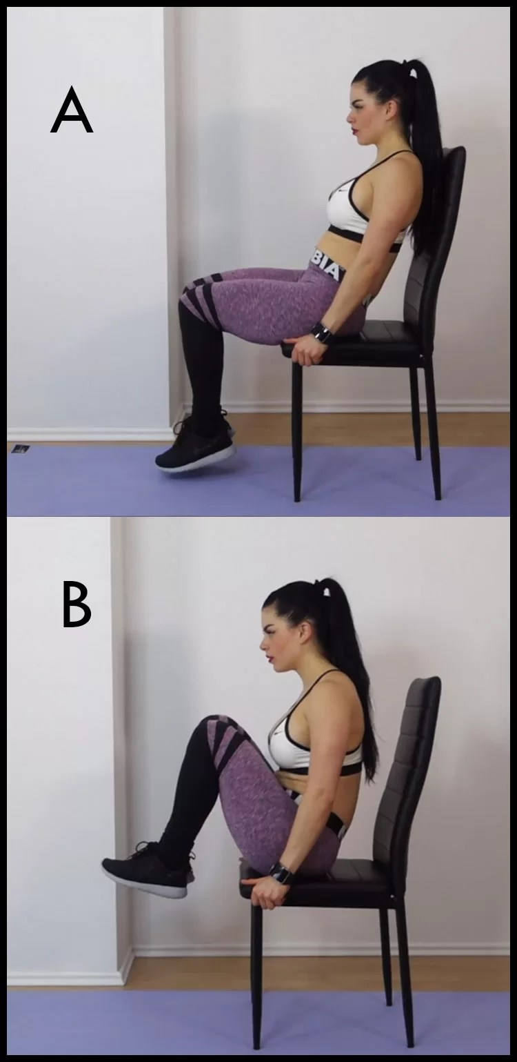 Chair Exercise Chair Exercises For Abs 8 Minute Tiny Waist Flat Tummy Workout