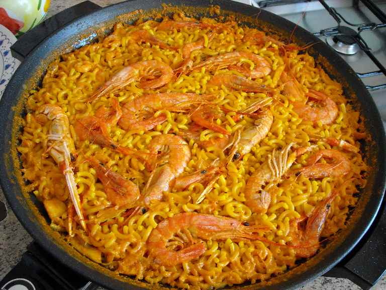 Receta de fideu de pescado cocina valenciana
