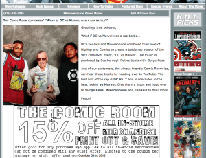 The Comic Room Features FenaxiZ On Home Page