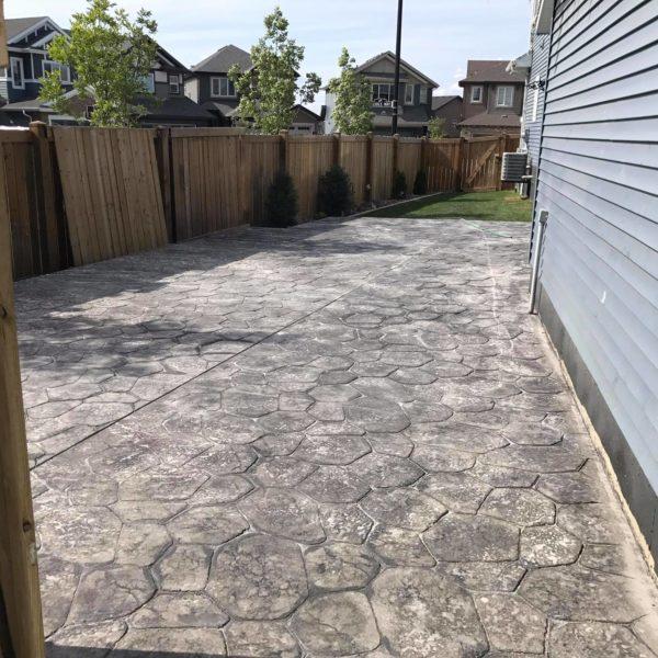 stamped concrete patio pressure