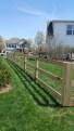 wood rail fences