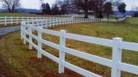 3 Rail Vinyl Fence - 496ft from Fence Supply Online