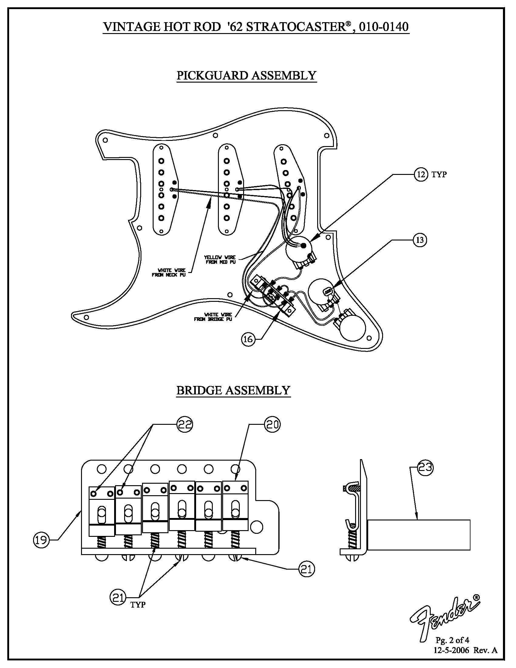 Vintage Hot Rod 62 Strat Wiring Diagram 010014 · Customer