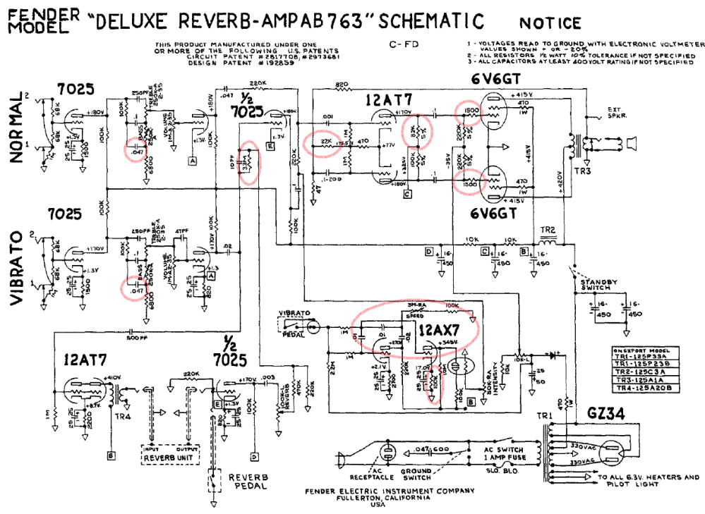 medium resolution of bf sf deluxe reverb fenderguru com fender deluxe amp wiring diagram