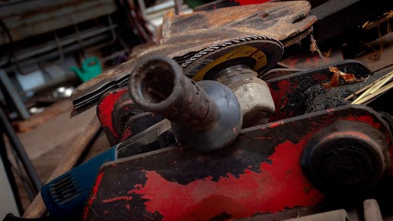 meuleuse métal pour fabriquer fendeuse à bois