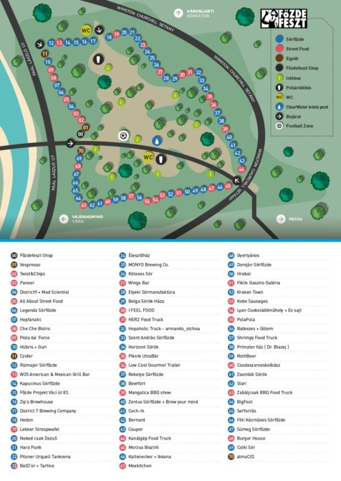 11. Főzdefeszt térkép