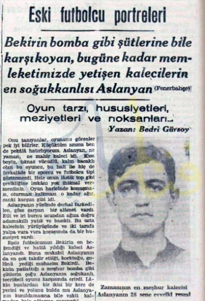 Fener'in Aslanı : Kaleci Arslanyan
