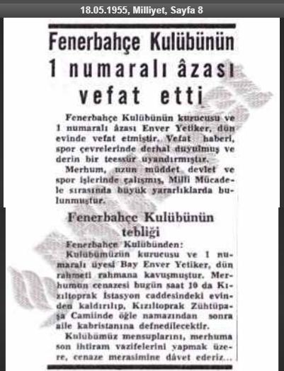 Fenerbahçe'de 1 Numaralı Üye Kim?