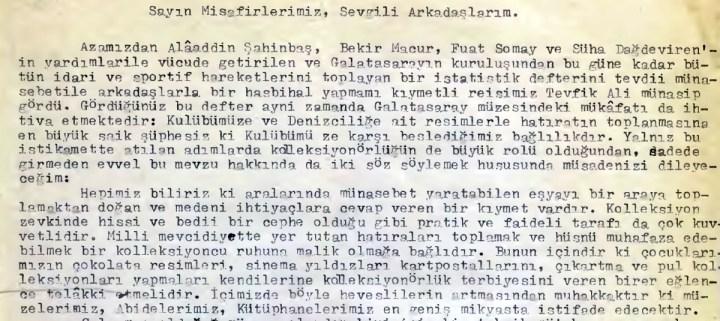 1959 Öncesi Şampiyonlukları Kabul Eden Galatasaraylılar da Var. En Başta da Ali Sami Yen.