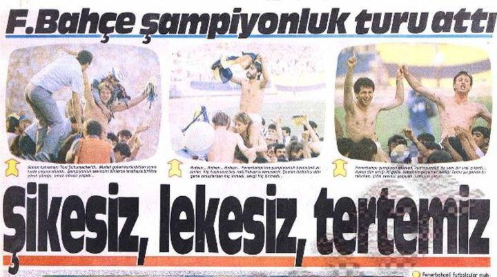 Fenerbahçe'nin 21'inci Türkiye Şampiyonluğu