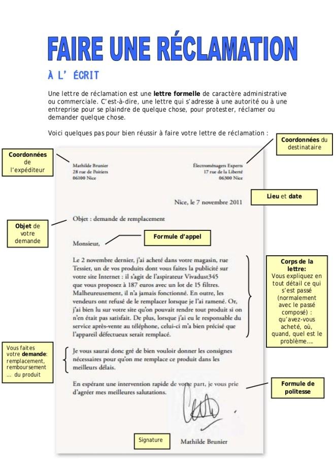 photo exemple de lettre formelle en francais lettre de motivation