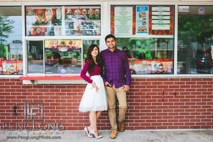 Indian Ice Cream Engagement Session Atlanta