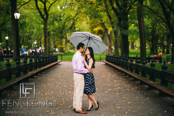 Fusion Vietnamese Indian Engagement Session Central Park New York City