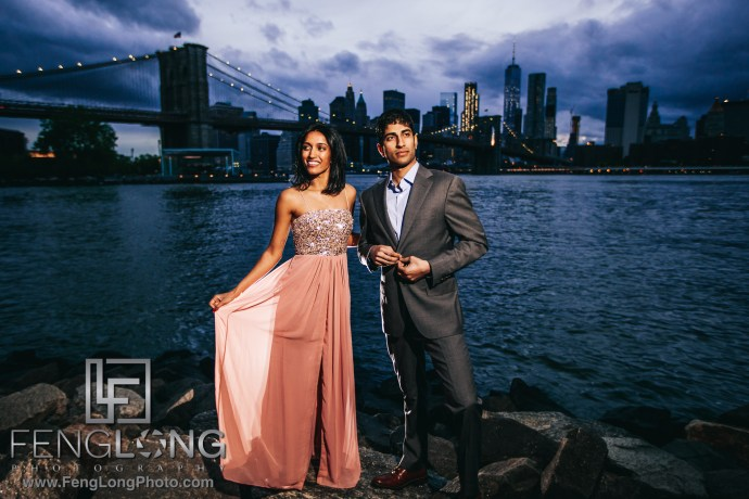 Indian Wedding Engagement Session in New York City and Brooklyn