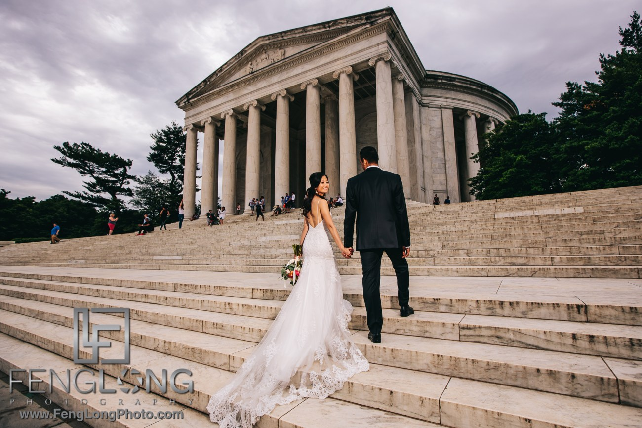 Fusion Vietnamese Indian Wedding in Washington, DC at Jefferson Memorial