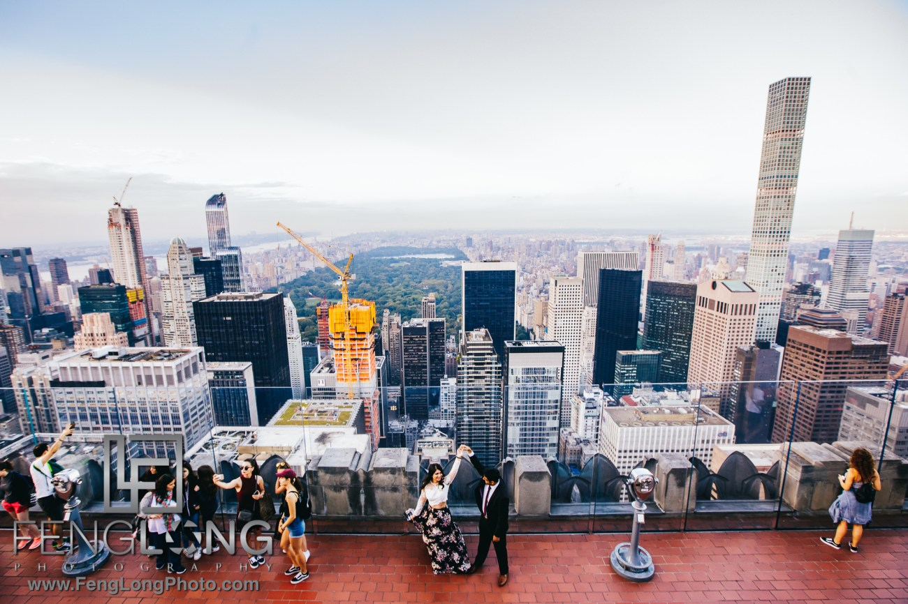 Top of the Rock NYC Indian Engagement Session