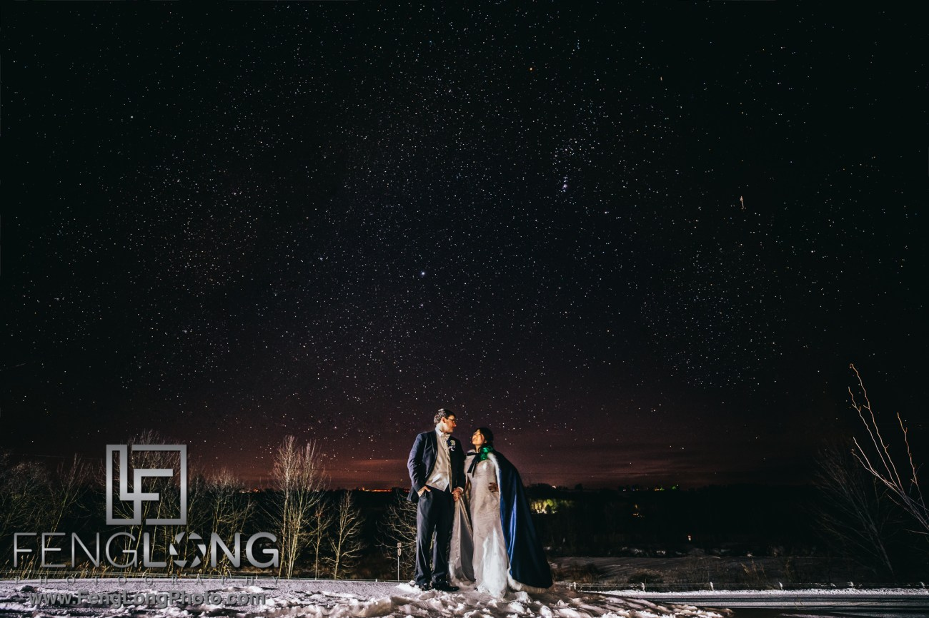 Night Wedding Astrophotography with Stars