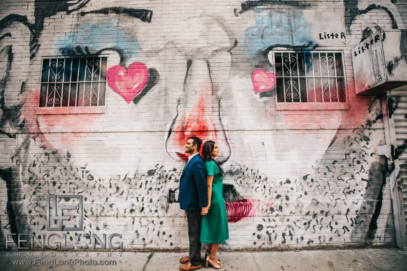 Radha & Nilkanth New York City Indian Engagement Session