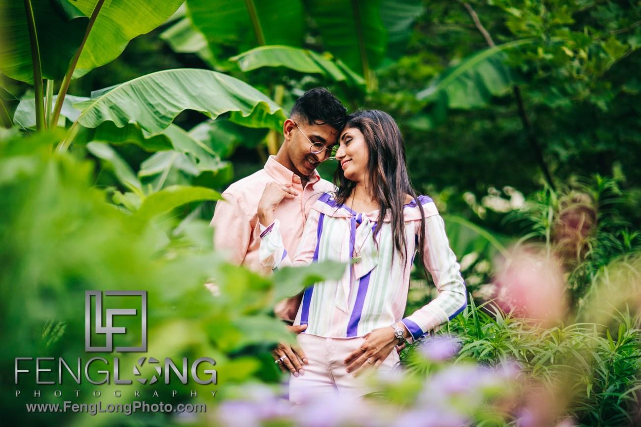 Sana & Shakeel Engagement at Atlanta Botanical Gardens