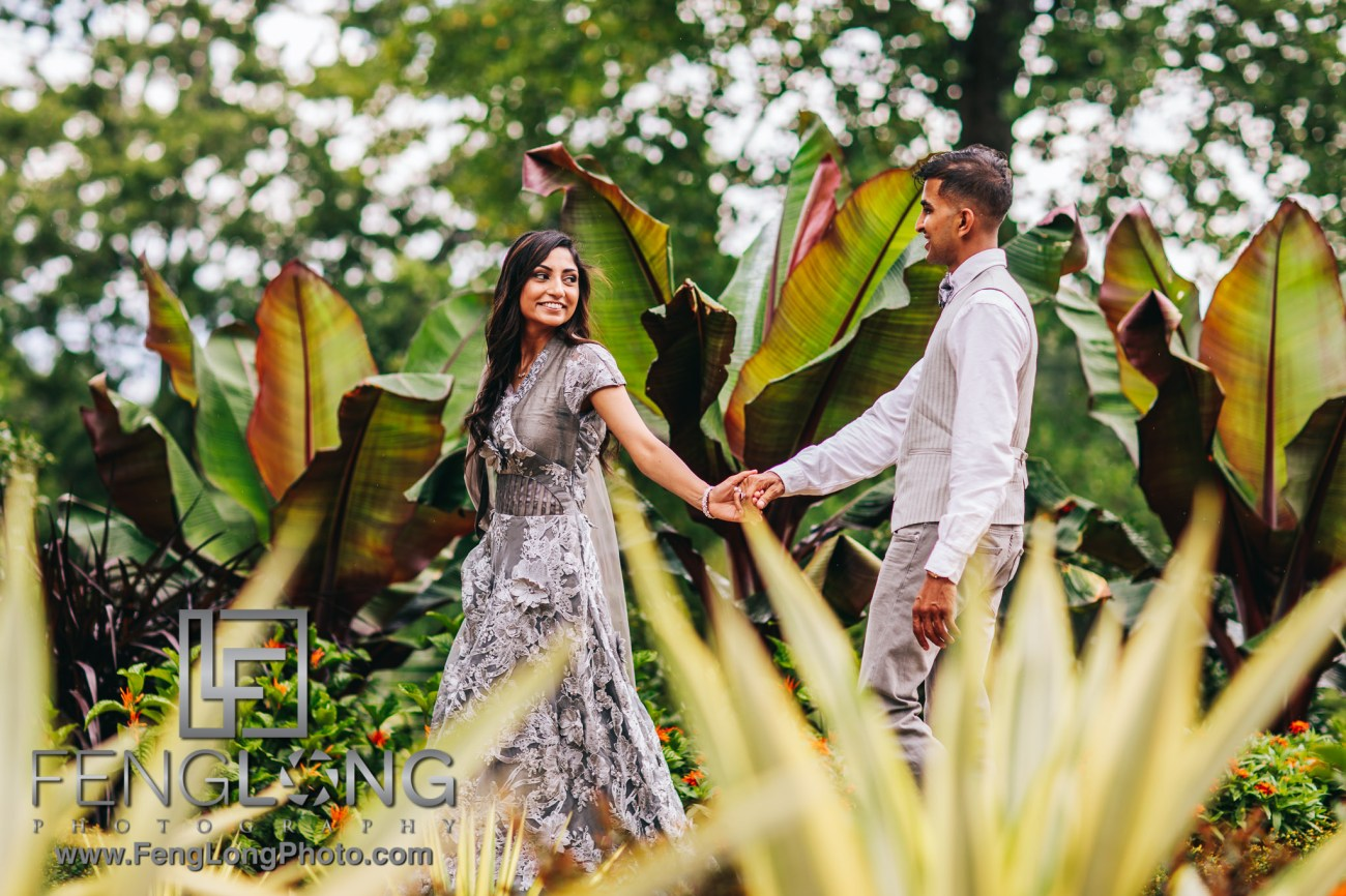 Sana & Shakeel Engagement at Atlanta Botanical Gardens