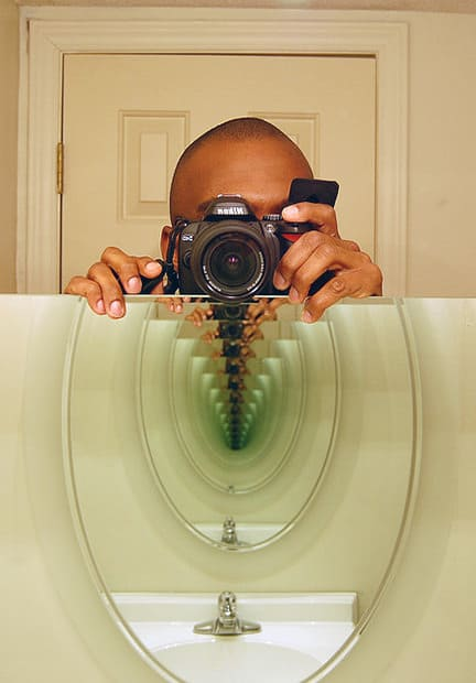 An Imperfect Mirror Will Have Greenish Color At The End Of Tunnel