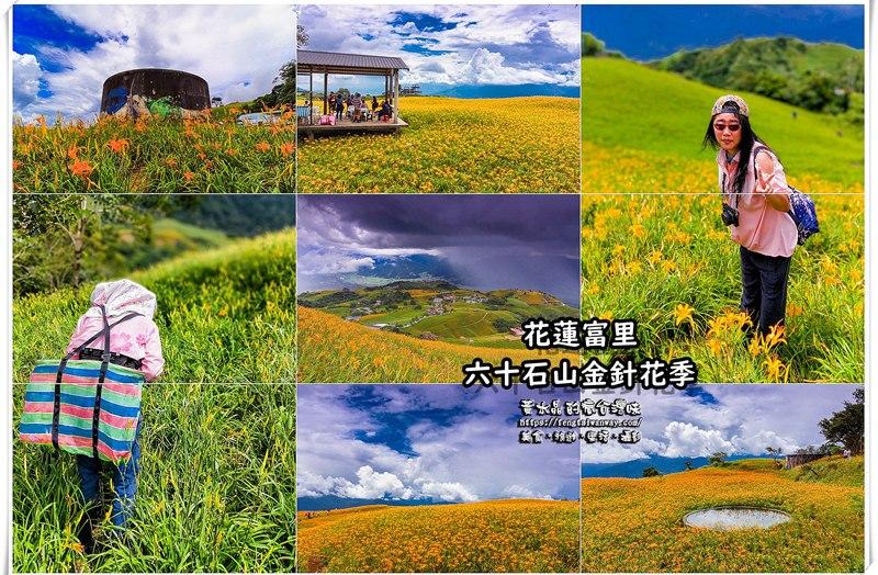 六十石山金針花季【花蓮旅遊】|滿山滿谷的金黃色地毯;交通、場地配置、各大攝影點資訊大公開 @黃水晶的瘋台灣味