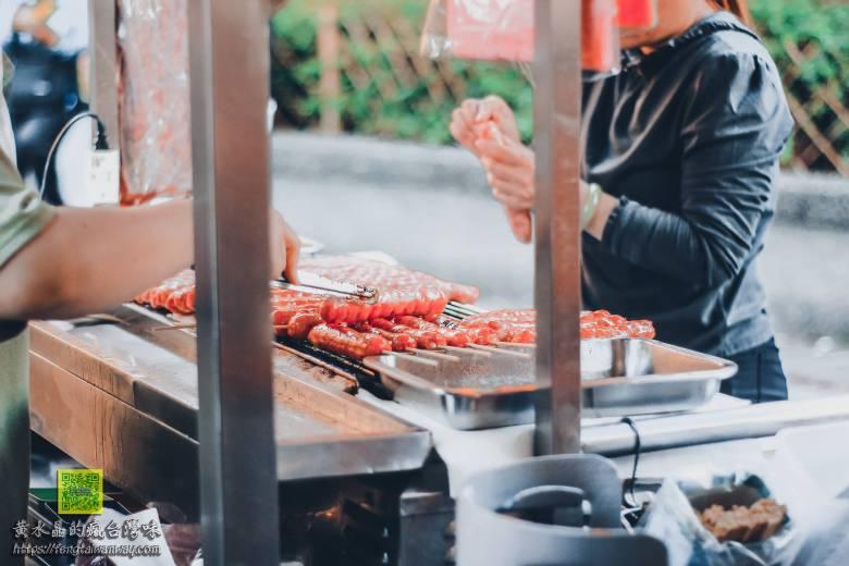 永發黑豬肉香腸【三峽美食】|三峽老街祖師廟廟埕前必吃高人氣排隊香腸 @黃水晶的瘋台灣味