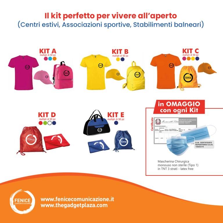 Kit personalizzati per centri estivi e associazioni sportive