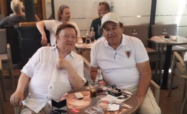 Arhivska fotografija Otta Barića (lijevo) i našeg dopisnika Ivana Barišića / Foto: Fenix