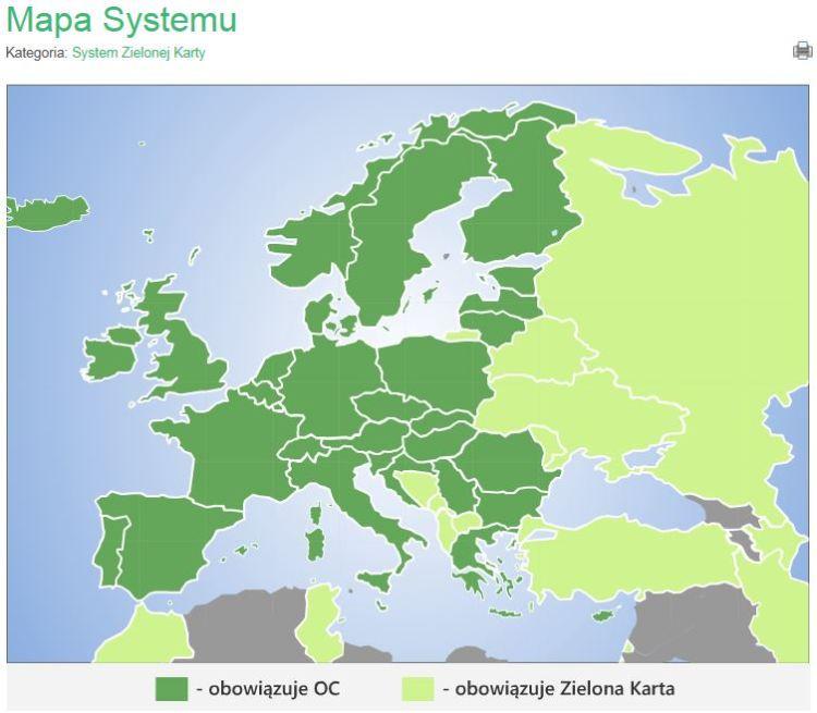 Gdzie działa OC a gdzie potrzebna jest Zielona Karta?