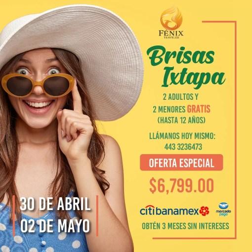 Super PROMO - Las Brisas Ixtapa - 30 de abril al 02 de mayo