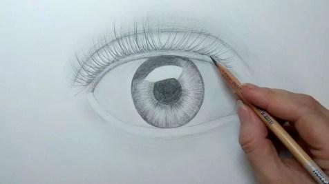 Как нарисовать глаз карандашом? Шаг шестой. Портреты карандашом - Fenlin.ru
