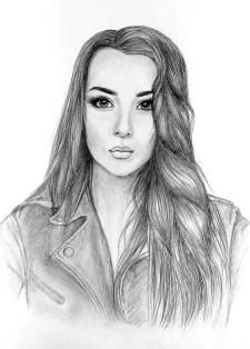 Портрет карандашом красивой девушки - Fenlin.ru