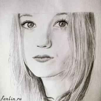 Портрет карандашом девушки - Fenlin.ru