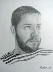 Портрет мужчины карандашом - Fenlin.ru