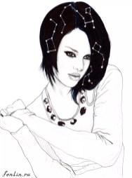 Портрет карандашом Риханы (скан) - Fenlin.ru