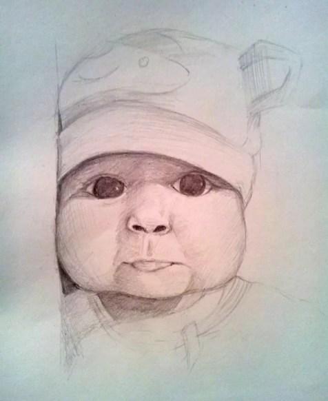 Как нарисовать ребенка? Шаг 12. Портреты карандашом - Fenlin.ru