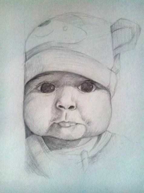 Как нарисовать ребенка? Шаг 13. Портреты карандашом - Fenlin.ru