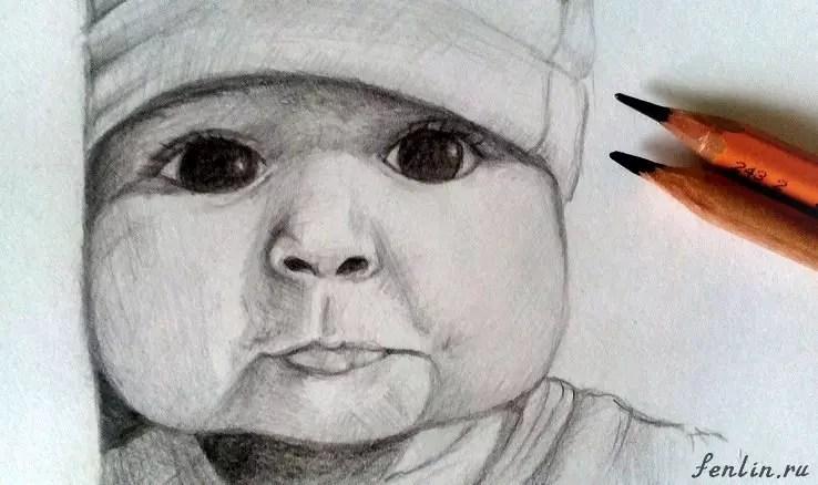 Как нарисовать ребенка? Портреты карандашом - Fenlin.ru