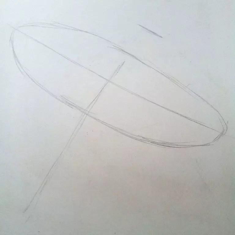 Как нарисовать зонтик карандашом? Шаг 1. Портреты карандашом - Fenlin.ru
