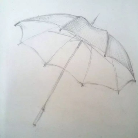 Как нарисовать зонтик карандашом? Шаг 6. Портреты карандашом - Fenlin.ru