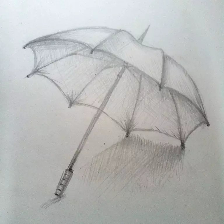Как нарисовать зонтик карандашом? Шаг 9. Портреты карандашом - Fenlin.ru