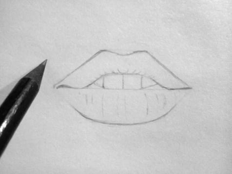 Как нарисовать губы карандашом? Шаг 5. Портреты карандашом - Fenlin.ru