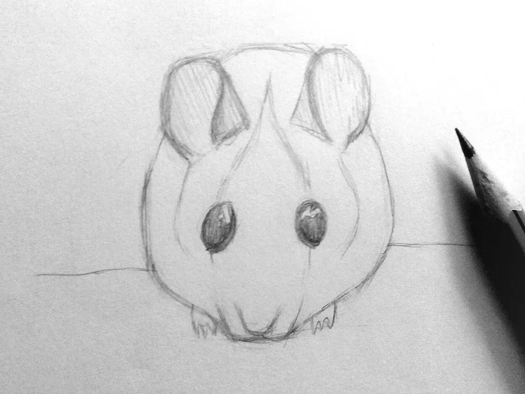 Как нарисовать мышку карандашом? Шаг 11. Портреты карандашом - Fenlin.ru