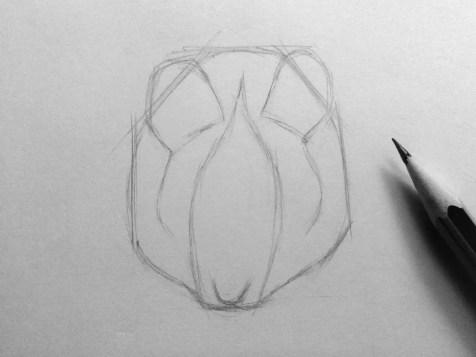 Как нарисовать мышку карандашом? Шаг 6. Портреты карандашом - Fenlin.ru