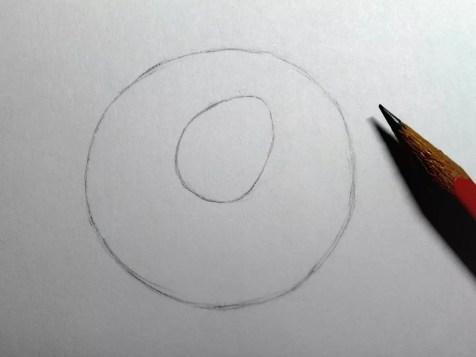 Как нарисовать розу карандашом? Шаг 2. Портреты карандашом - Fenlin.ru