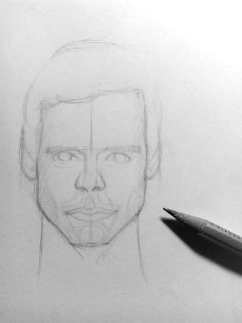 Как нарисовать мужчину карандашом? Шаг 12. Портреты карандашом - Fenlin.ru