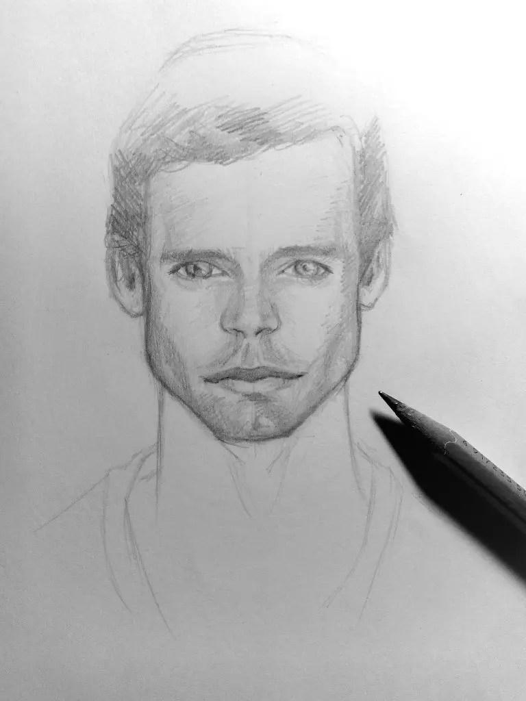 Как нарисовать мужчину карандашом? Шаг 18. Портреты карандашом - Fenlin.ru