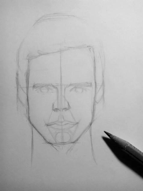 Как нарисовать мужчину карандашом? Шаг 9. Портреты карандашом - Fenlin.ru