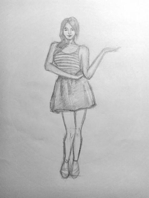 Как нарисовать женщину в полный рост карандашом? Поэтапный урок. Шаг 16. Портреты карандашом - Fenlin.ru